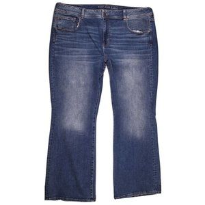 American Eagle Bootcut Flare Jeans Blue Plus 24